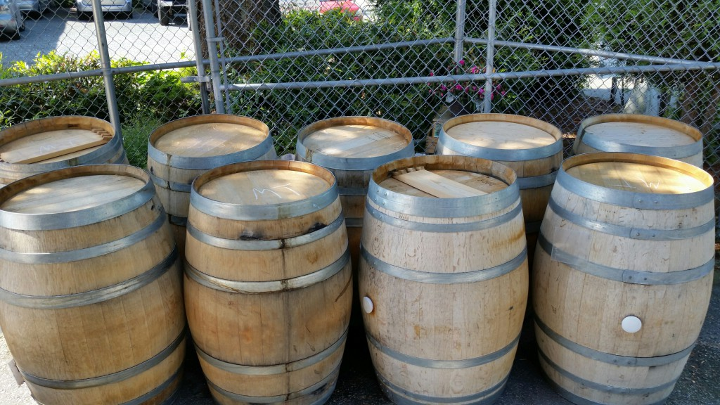 Barrels outside